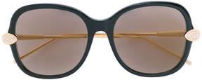Boucheron Swarovski crystal-embellished square-frame glasses