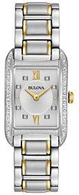 Bulova Ladies' Diamond Accent Rectangular Watch