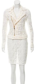 Pinko Guipure Lace Skirt Suit