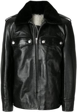 Calvin Klein fur trim jacket