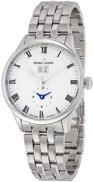 Maurice Lacroix Masterpiece Date GMT Opaline Dial Men's Watch