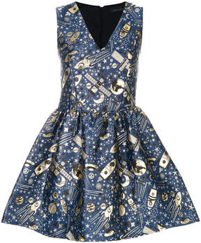 Frankie Morello jacquard flared dress