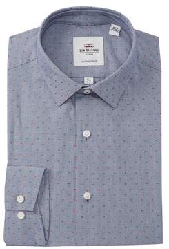 Ben Sherman Puppy Tooth Tailored Slim Fit Dress Shirt