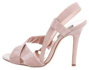 Giambattista Valli Patent Leather Slingback Sandals w/ Tags