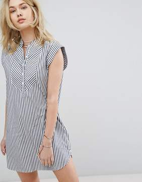 Abercrombie & Fitch Preppy Striped Collarless Dress