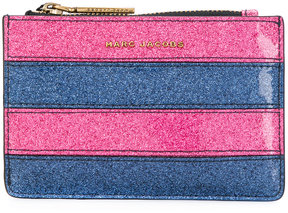 Marc Jacobs striped glittered cardholder - PINK & PURPLE - STYLE