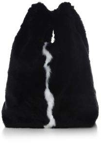 KENDALL + KYLIE Michelle Faux Fur Hobo Bag