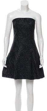 Chanel Strapless Brocade Dress