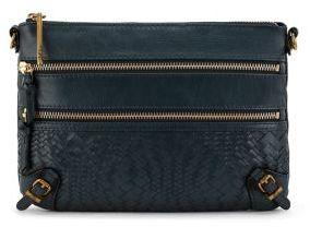 Elliott Lucca Bali 3-Zip Leather Clutch