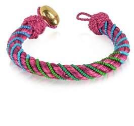 Aurelie Bidermann Women's Fuchsia Canvas Bracelet.