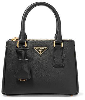 Prada Galleria Baby Textured-leather Tote - Black