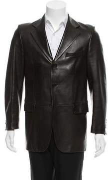 Christian Dior Leather Three-Button Blazer
