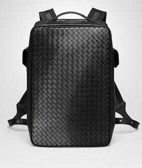 Bottega Veneta Nero Nappa Galaxy Brick Backpack