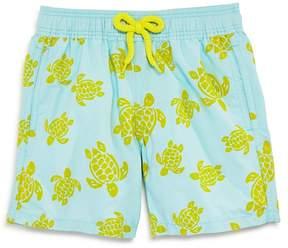 Vilebrequin Boys' Jim Flocked Turtles Swim Trunks - Little Kid, Big Kid