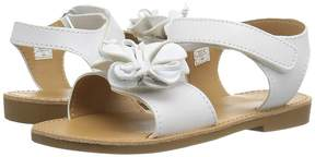 Baby Deer Double Strap Sandal with Flower (Infant/Toddler)