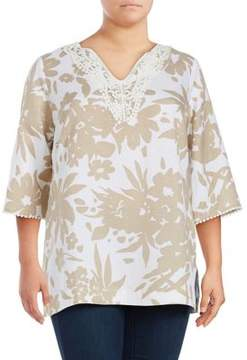 Context Plus Floral Printed Tunic