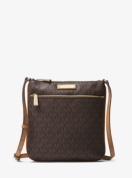Michael Kors Riley Logo Crossbody - BROWN - STYLE