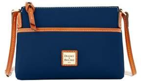 Dooney & Bourke Pebble Grain Ginger Pouchette Shoulder Bag - MIDNIGHT BLUE - STYLE