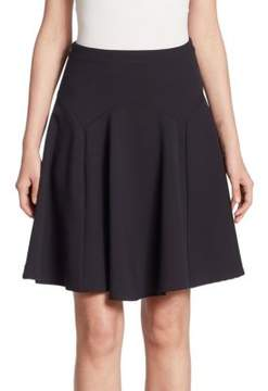 Armani Jeans Wool Fluted Skirt
