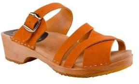 Cape Clogs Women's Pia Orange Strappy Sandal.