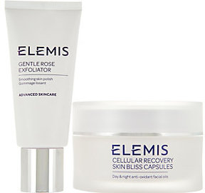 Elemis Skin Bliss Capsules and Gentle Rose Exfoliator Set