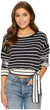 Bishop + Young Stripe Side Tie Pullover Women's Clothing