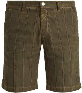Massimo Alba Striped slim-leg linen and cotton shorts