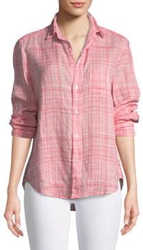 Frank And Eileen Eileen Button-Down Plaid Linen Shirt