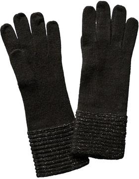 Portolano Women's Black Wool-Blend Gloves