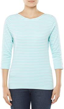 Allison Daley 3/4 Sleeve Striped Knit Top
