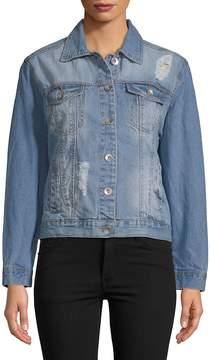 C&C California Women's Denim Medium Wash Jacket