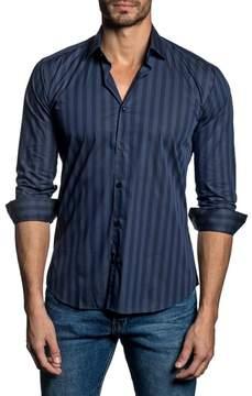 Jared Lang Trim Fit Vertical Stripe Sport Shirt