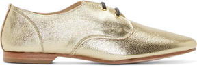 Yohji Yamamoto Gold Grained Leather Derbys