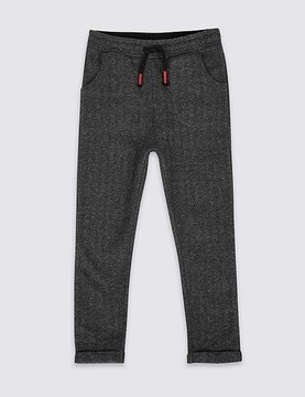 Marks and Spencer Cotton Rich Herringbone Joggers (3 Months - 6 Years)