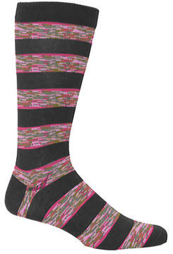 Ozone Men's Space Dye Stripe Crew Sock (2 Pairs)