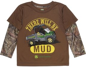 John Deere Toddler Boy There Will Be Mud Mock-Layer Tee