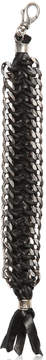 Emanuele Bicocchi Woven Leather & Silver Chain Bracelet