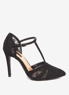 Dorothy Perkins Black 'Gazed' T-Bar Point Court Shoes