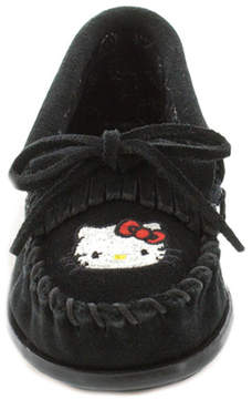 Minnetonka Girls' Hello Kitty Kilty Suede Moccasin