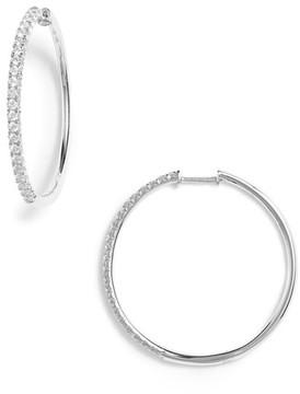 Bony Levy Women's Kiera French Cut Diamond Hoop Earrings (Nordstrom Exclusive)