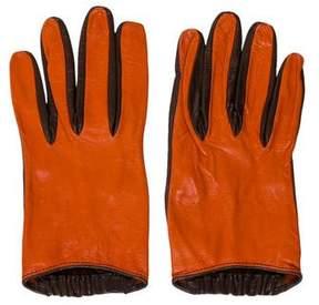Missoni Bicolor Leather Gloves
