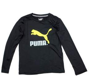 Puma Boy's No. 1 Logo Long Sleeve Crew Neck Sport Shirt