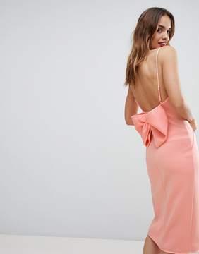 Asos DESIGN premium bow back cami wrap dress