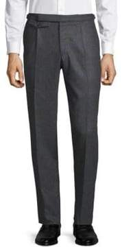 Incotex Windowpane Flat-Front Pants