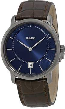Rado DiaMaster Quartz Blue Dial Ceramic Men's Watch