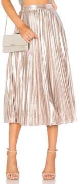 1 STATE Pleated Midi Skirt