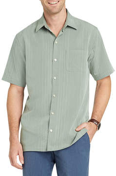 Van Heusen Short Sleeve Stripe Button-Front Shirt-Slim