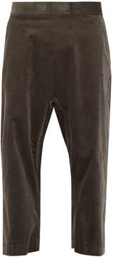 Haider Ackermann Wide-leg cropped velvet trousers