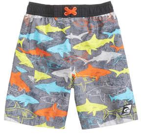 Trunks Laguna Underwater Gills Shark-Print Swim Trunks, Toddler & Little Boys