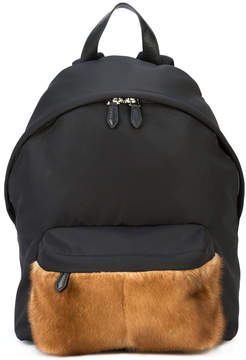 Givenchy mink and coated canvas backpack